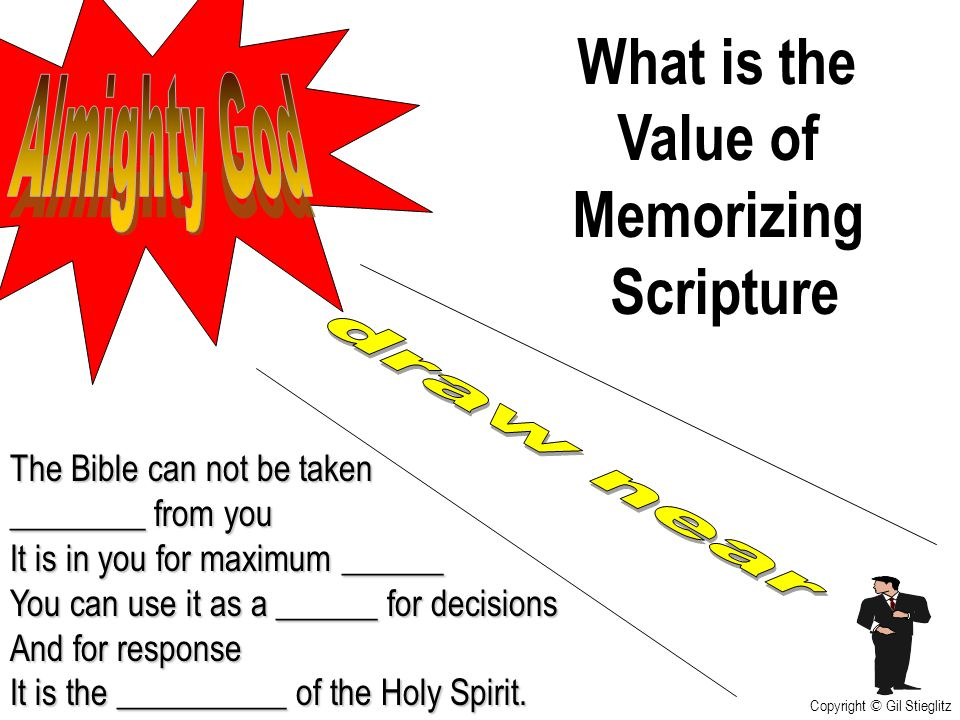 What is the Value of Memorizing Scripture