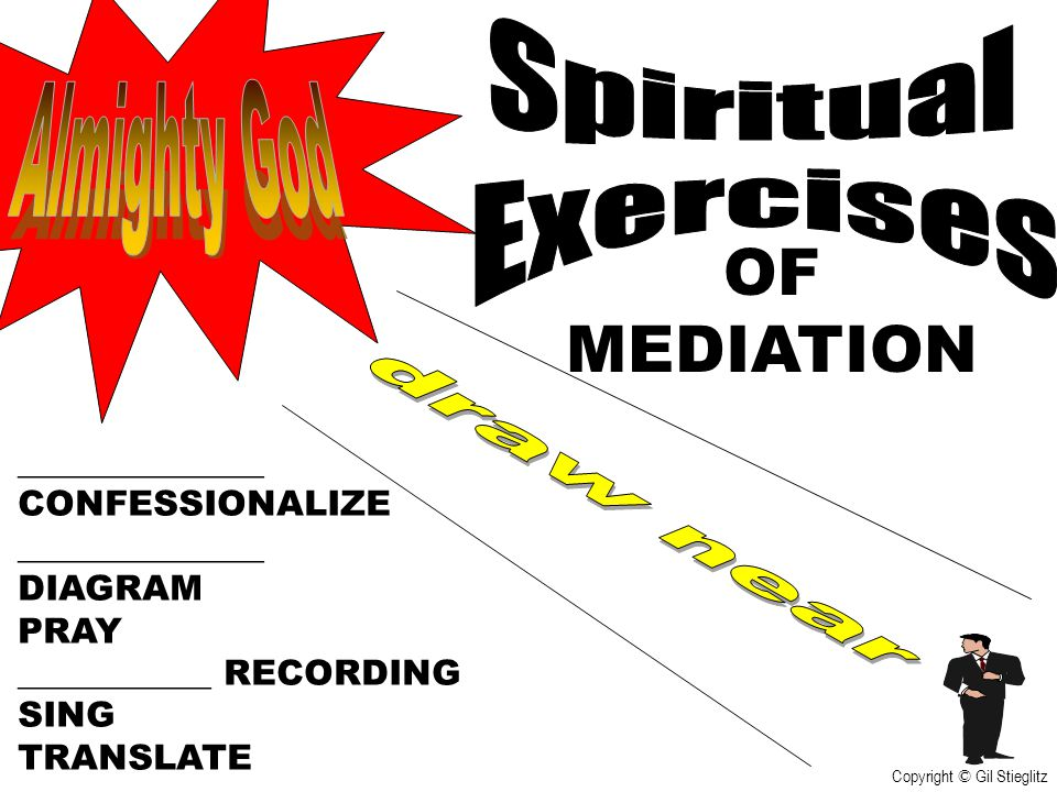 OF MEDIATION Spiritual Exercises Almighty God draw near ______________