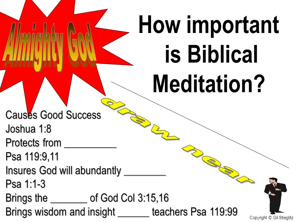 How important is Biblical Meditation