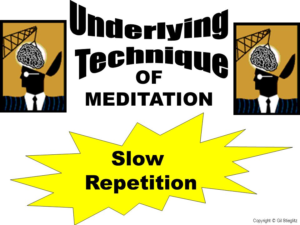 Slow Repetition OF MEDITATION Underlying Technique