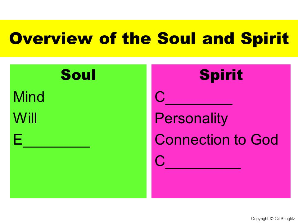 Overview of the Soul and Spirit