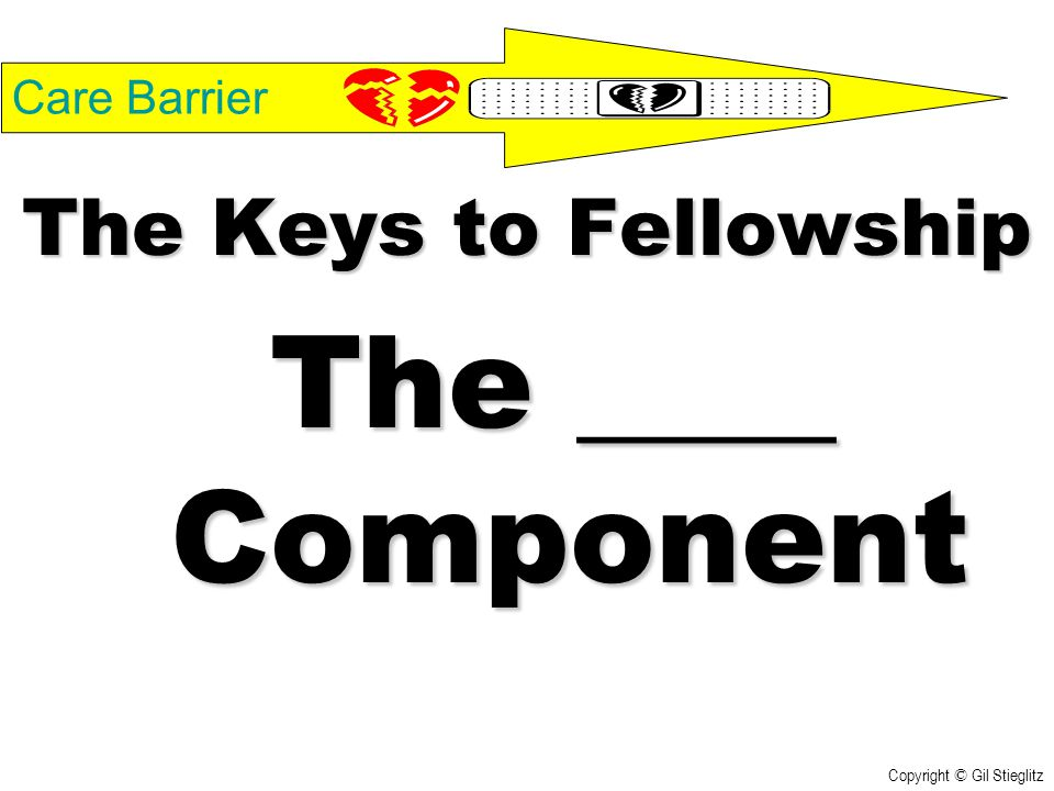 The ____ Component The Keys to Fellowship Care Barrier