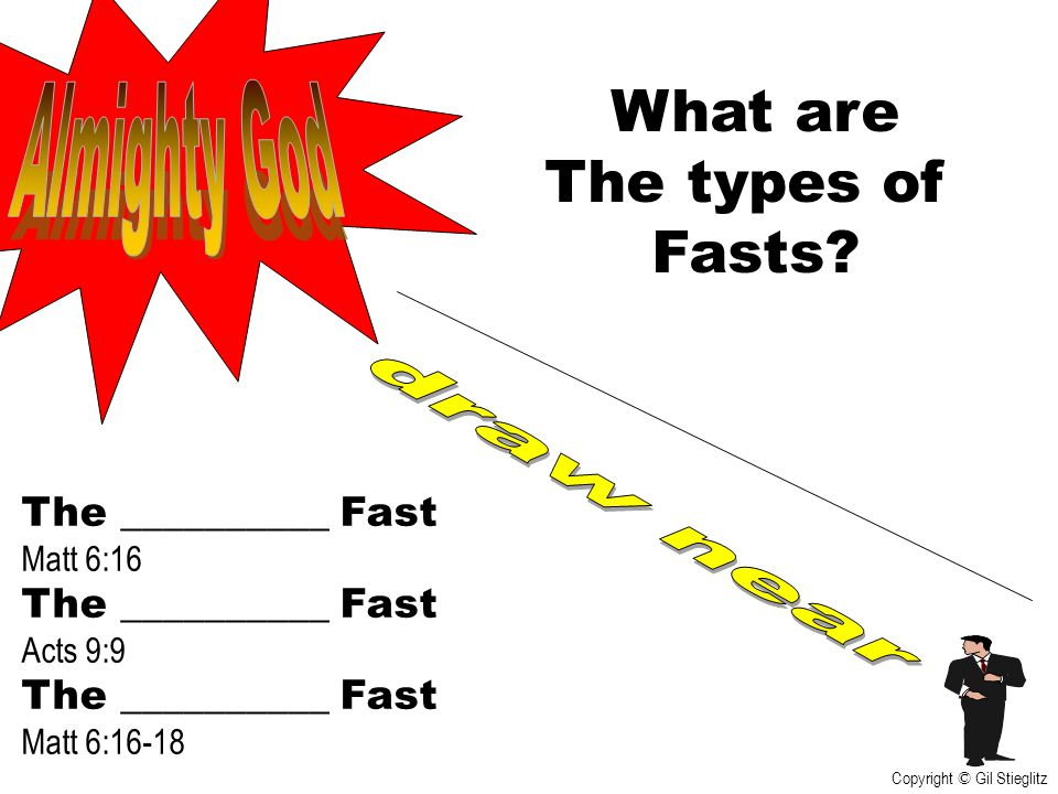 What are The types of Fasts Almighty God draw near