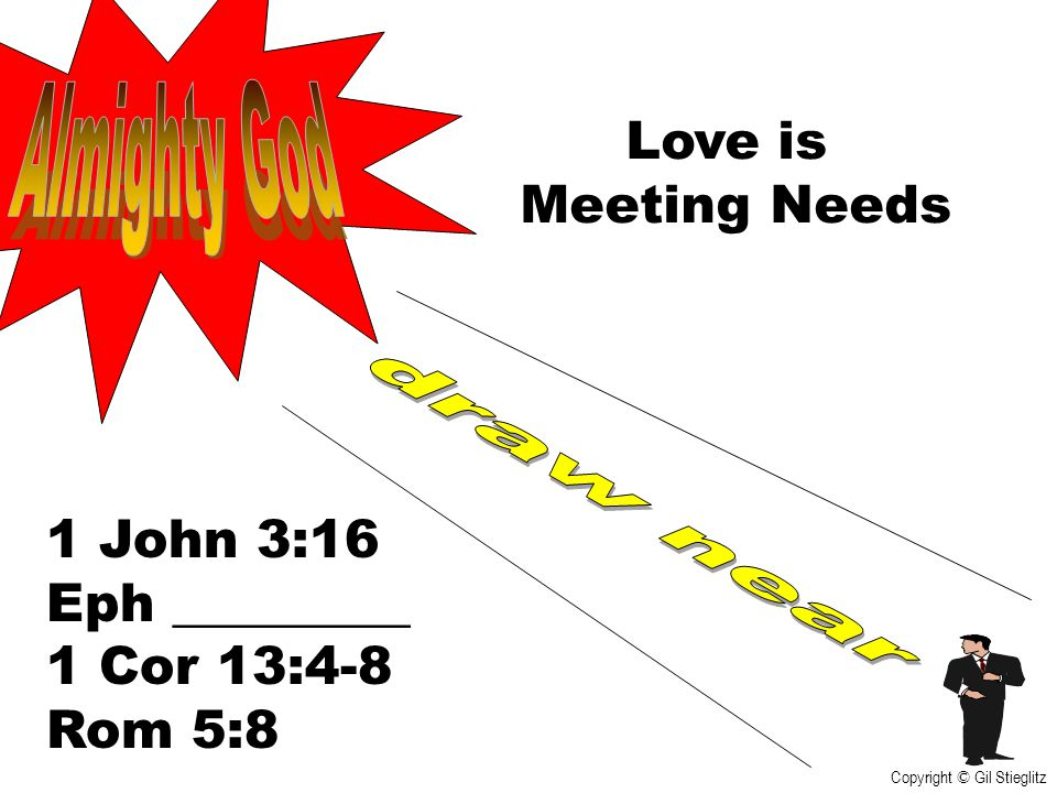 Almighty God Love is Meeting Needs draw near 1 John 3:16 Eph _________