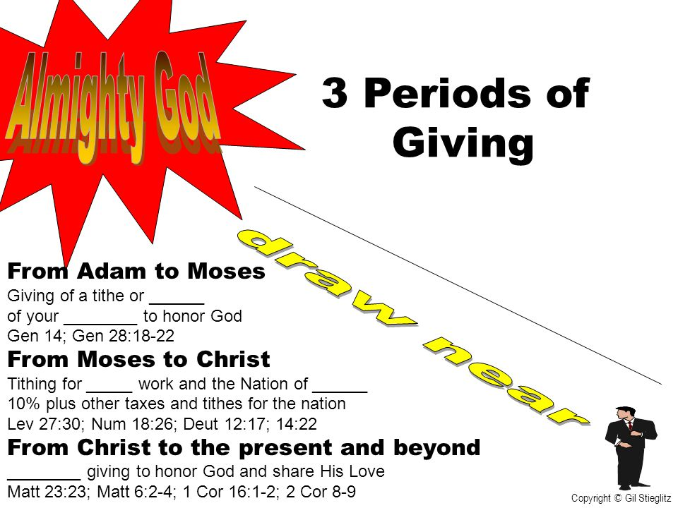 3 Periods of Giving Almighty God draw near From Adam to Moses