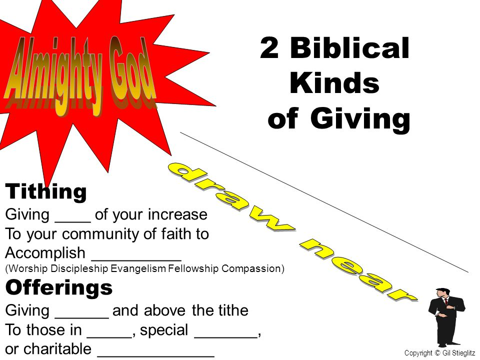 2 Biblical Kinds of Giving Almighty God draw near Tithing Offerings