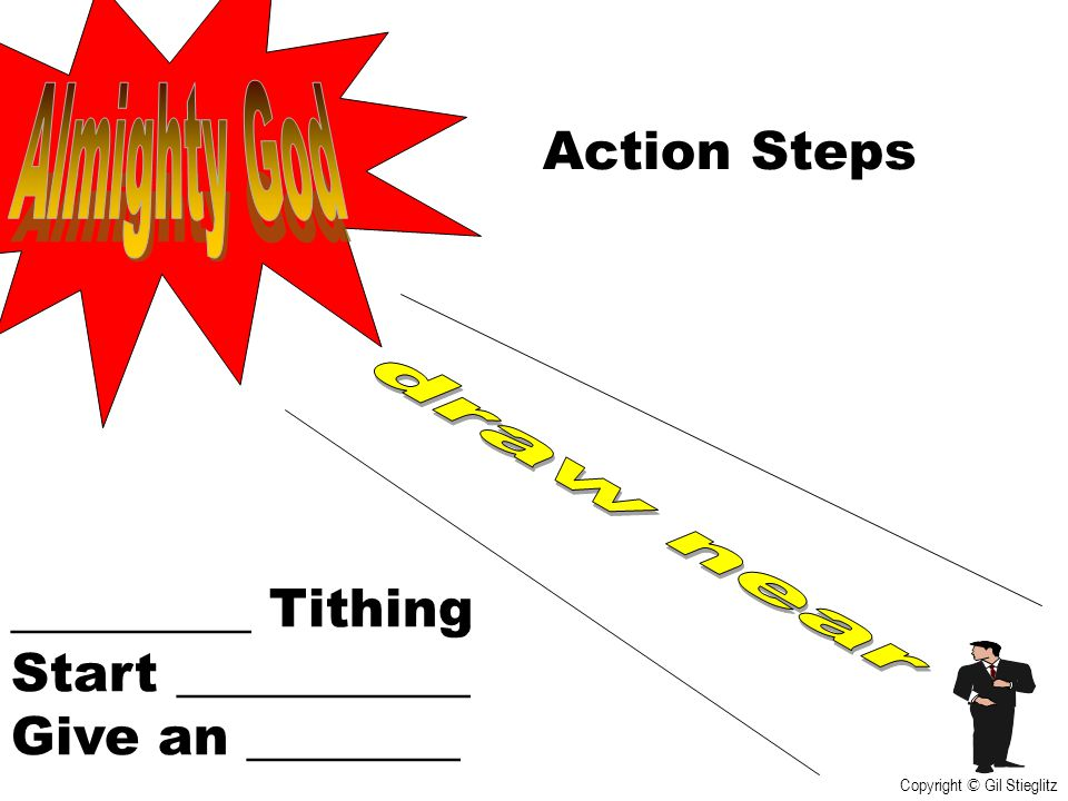 Almighty God Action Steps draw near _________ Tithing