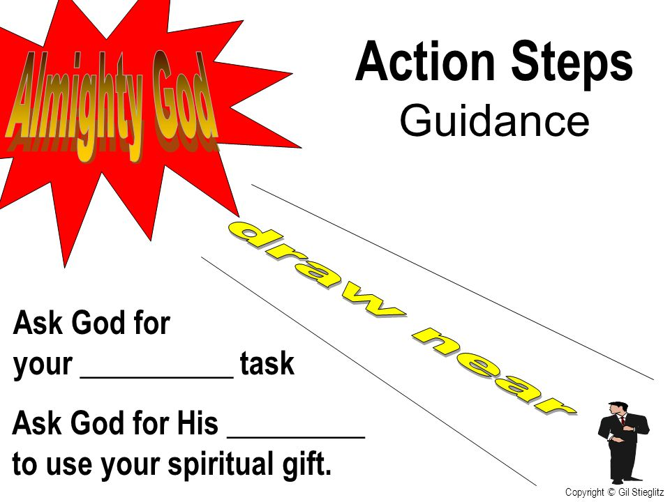Action Steps Guidance Almighty God draw near Ask God for