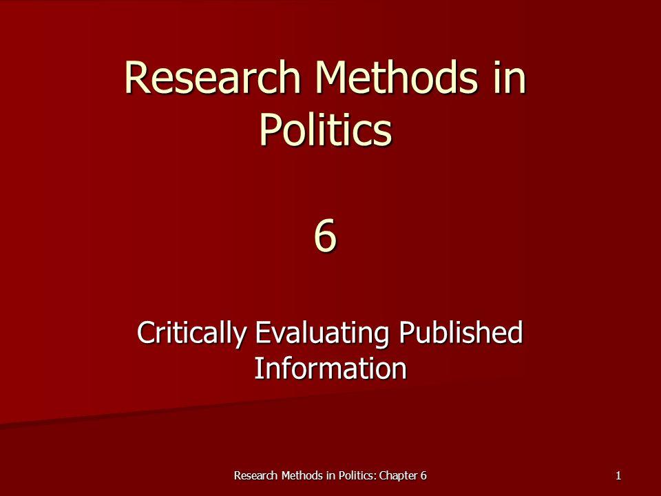 Research Methods in Politics 6