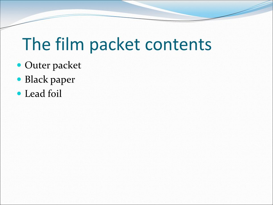 The film packet contents