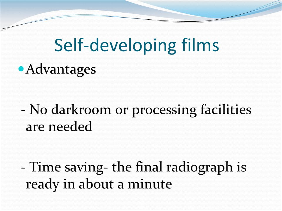 Self-developing films