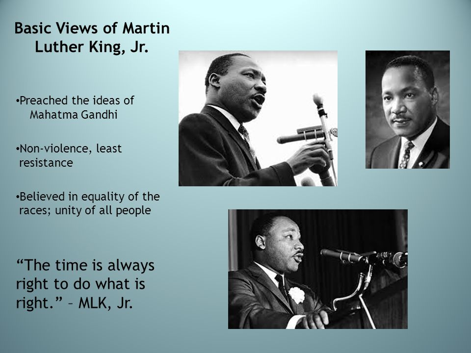 Basic Views of Martin Luther King, Jr.