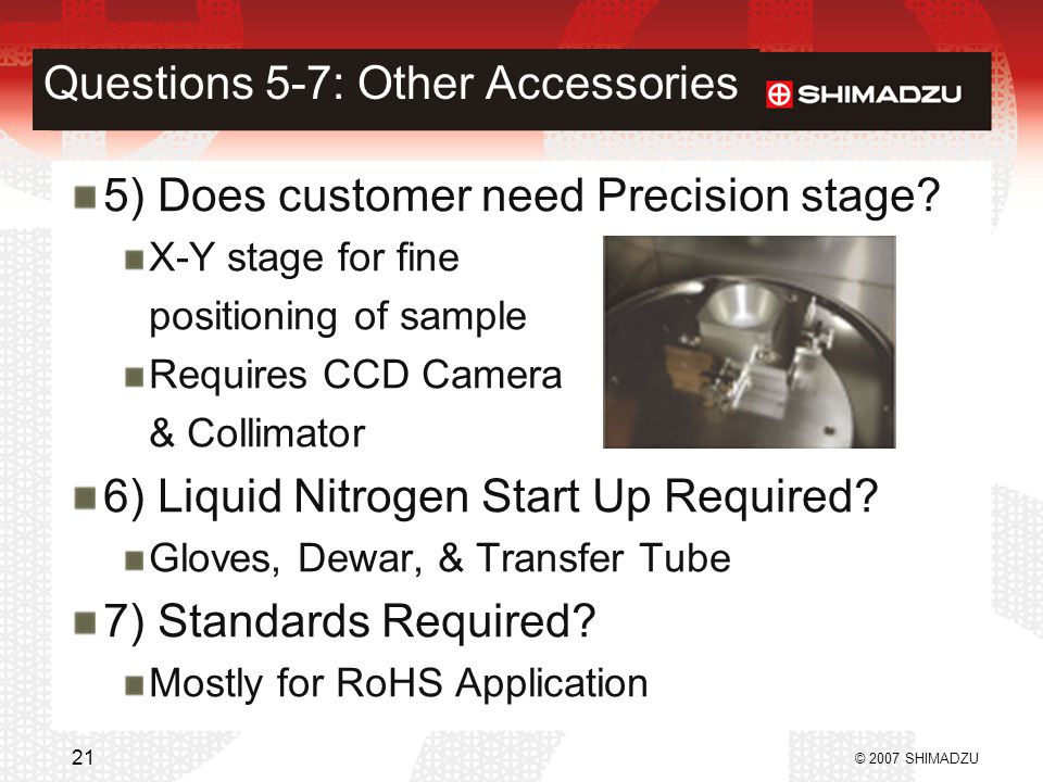 Questions 5-7: Other Accessories