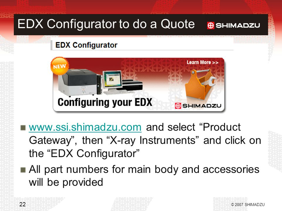 EDX Configurator to do a Quote