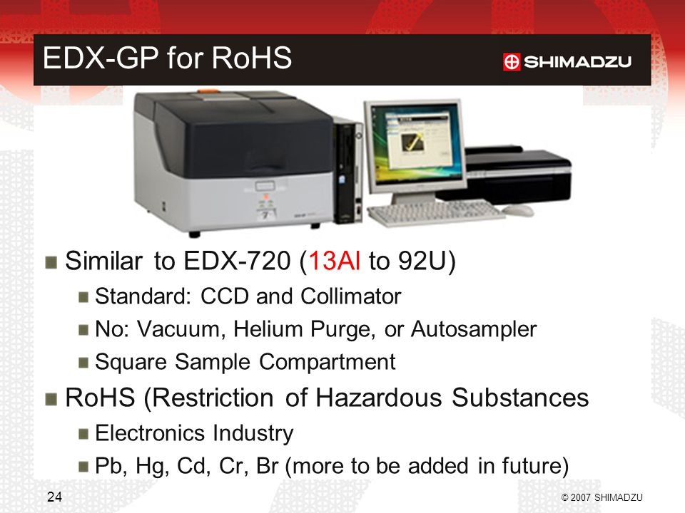 EDX-GP for RoHS Similar to EDX-720 (13Al to 92U)