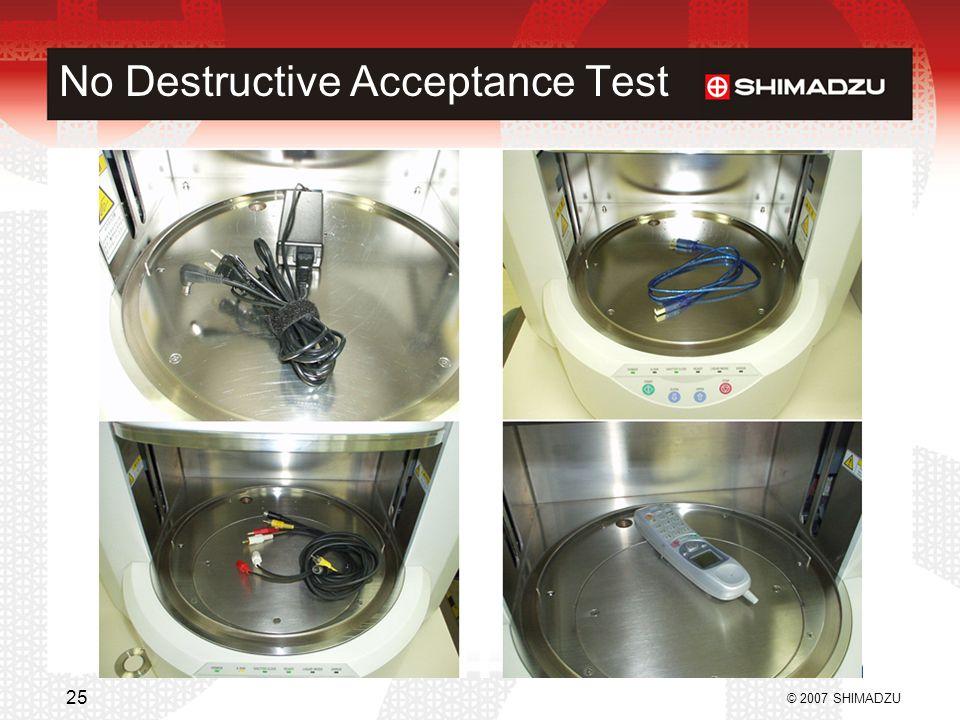 No Destructive Acceptance Test
