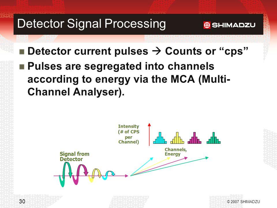 Detector Signal Processing