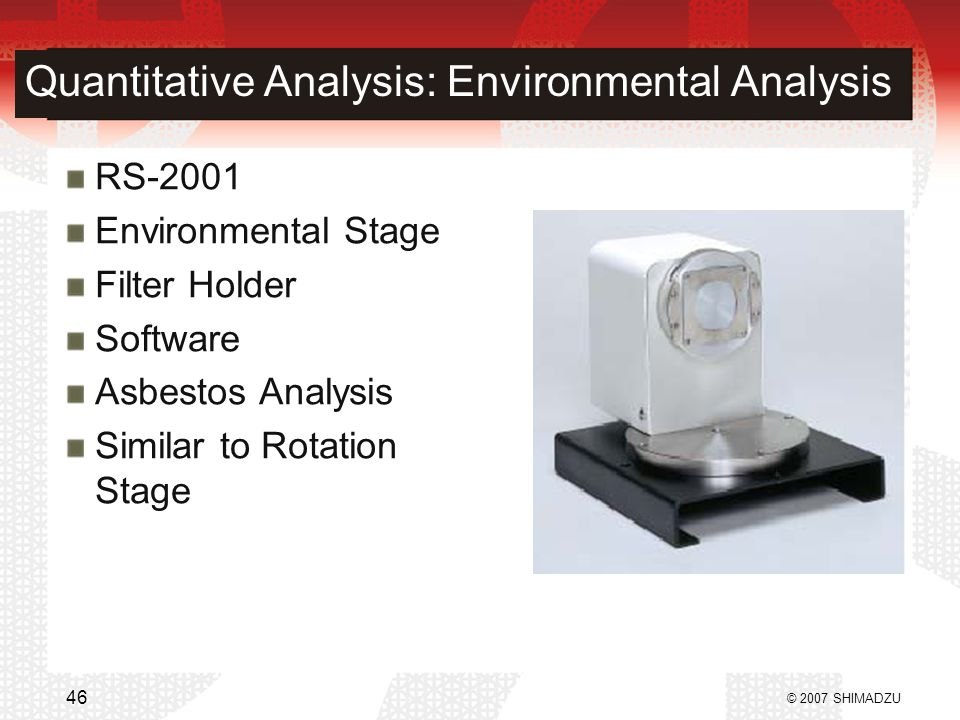 Quantitative Analysis: Environmental Analysis