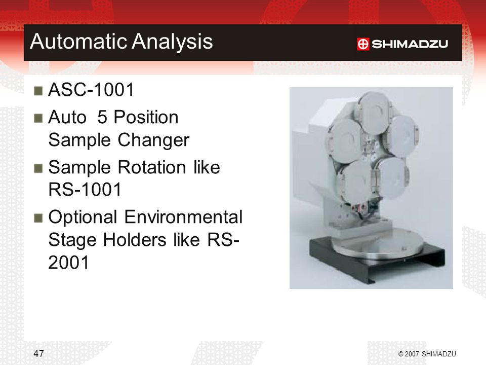 Automatic Analysis ASC-1001 Auto 5 Position Sample Changer