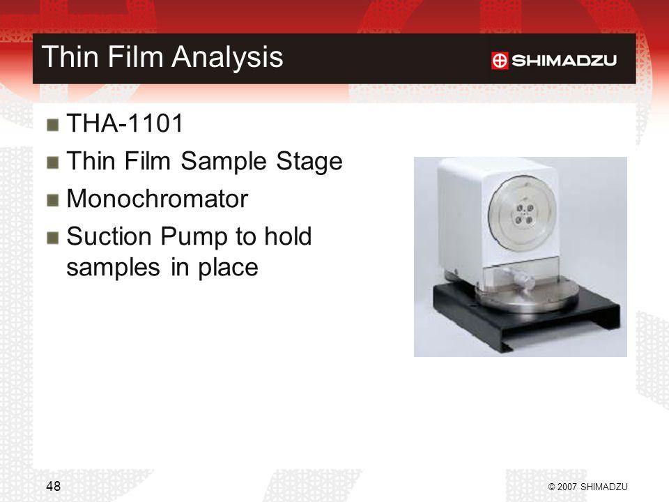 Thin Film Analysis THA-1101 Thin Film Sample Stage Monochromator
