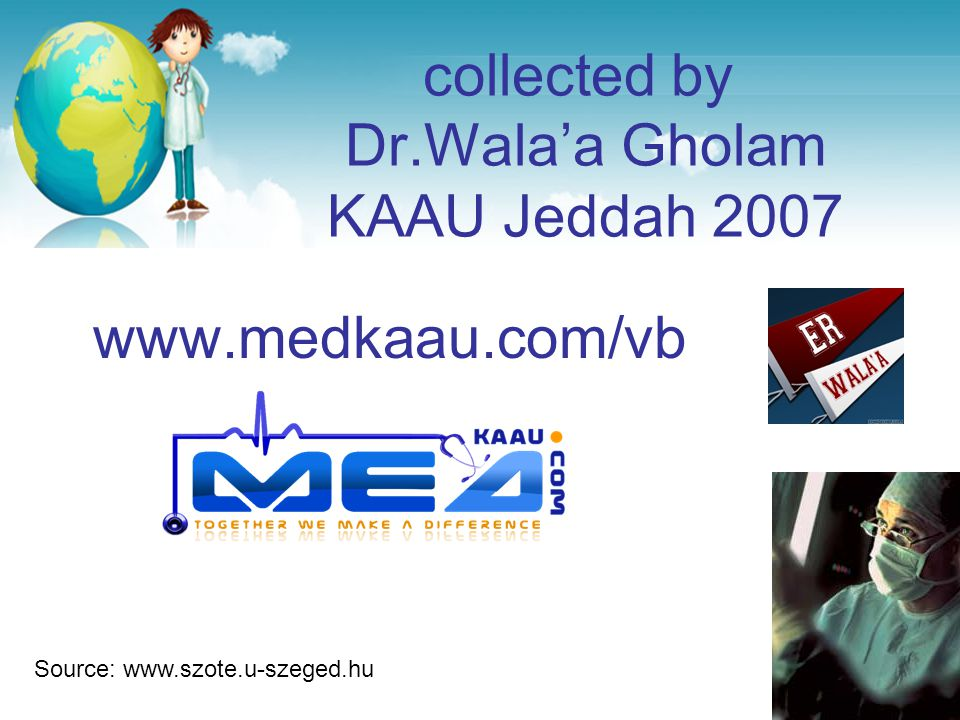 collected by Dr.Wala'a Gholam KAAU Jeddah 2007
