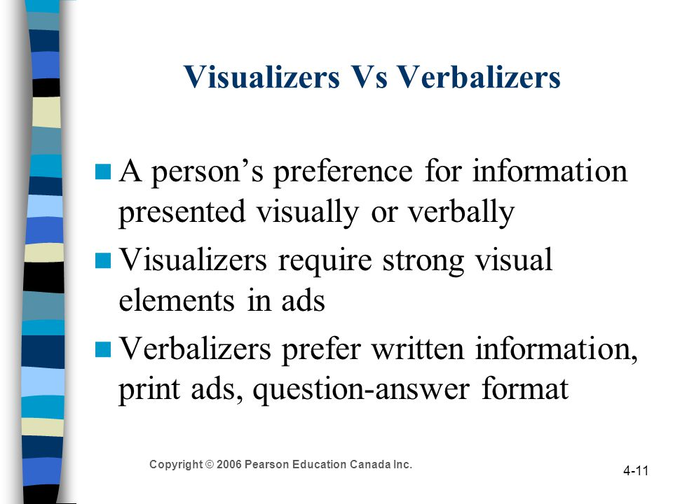 Visualizers Vs Verbalizers