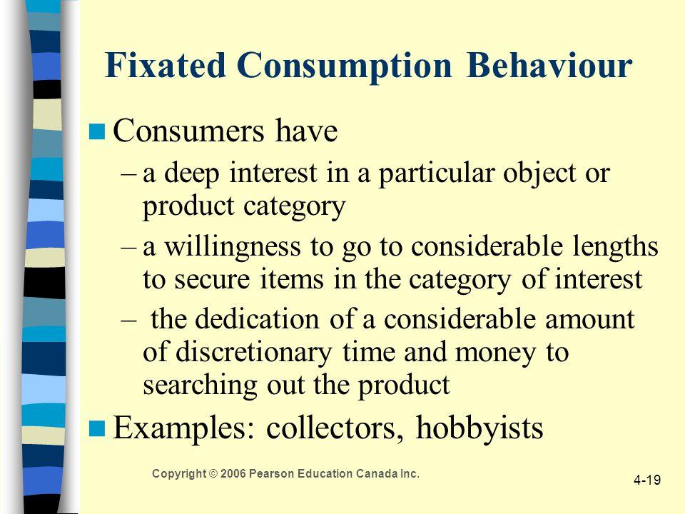 Fixated Consumption Behaviour