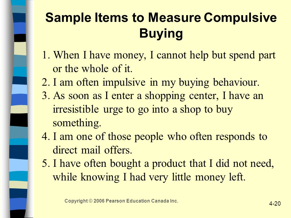 Sample Items to Measure Compulsive Buying