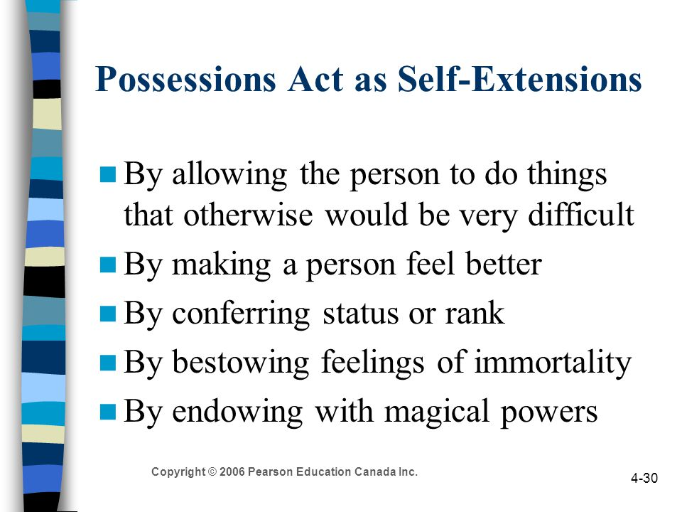 Possessions Act as Self-Extensions