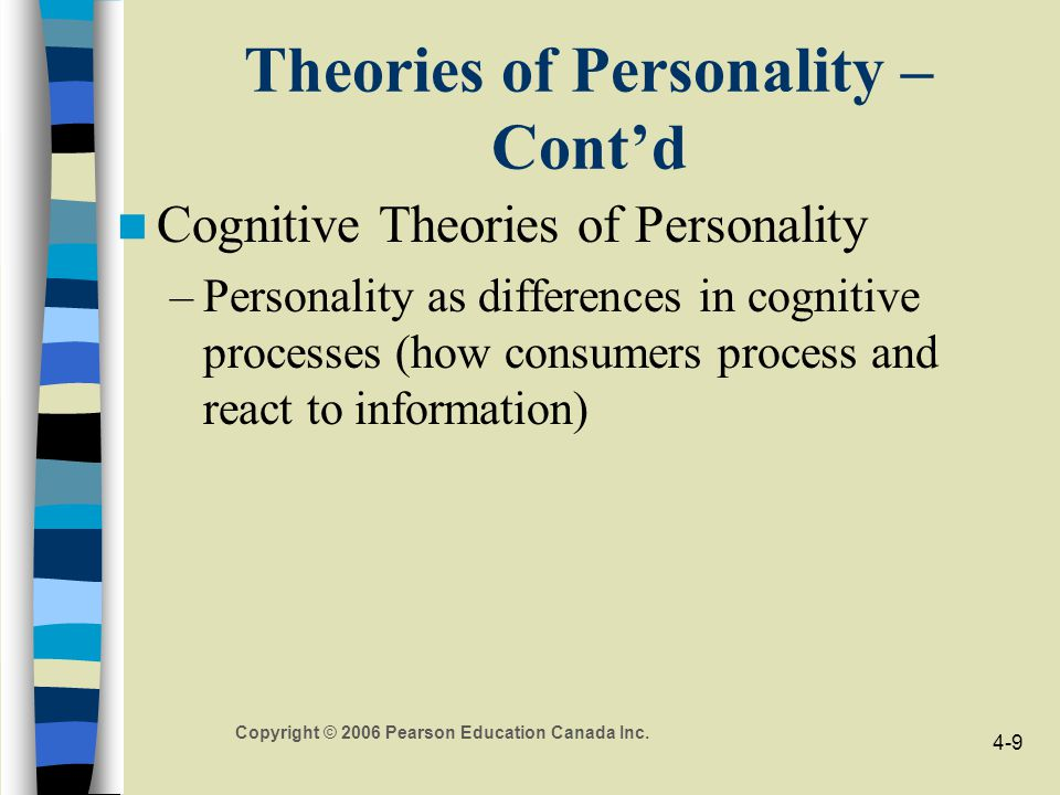 Theories of Personality – Cont'd