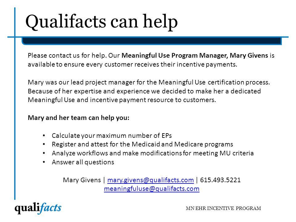 Mary Givens | mary.givens@qualifacts.com | 615.493.5221