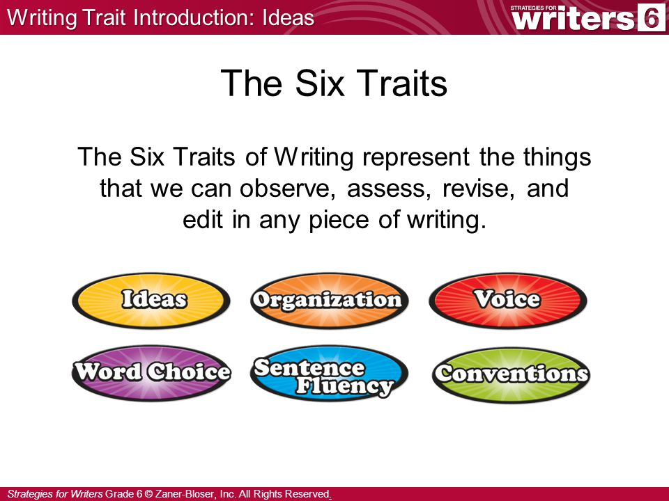 Writing Trait Introduction: Ideas