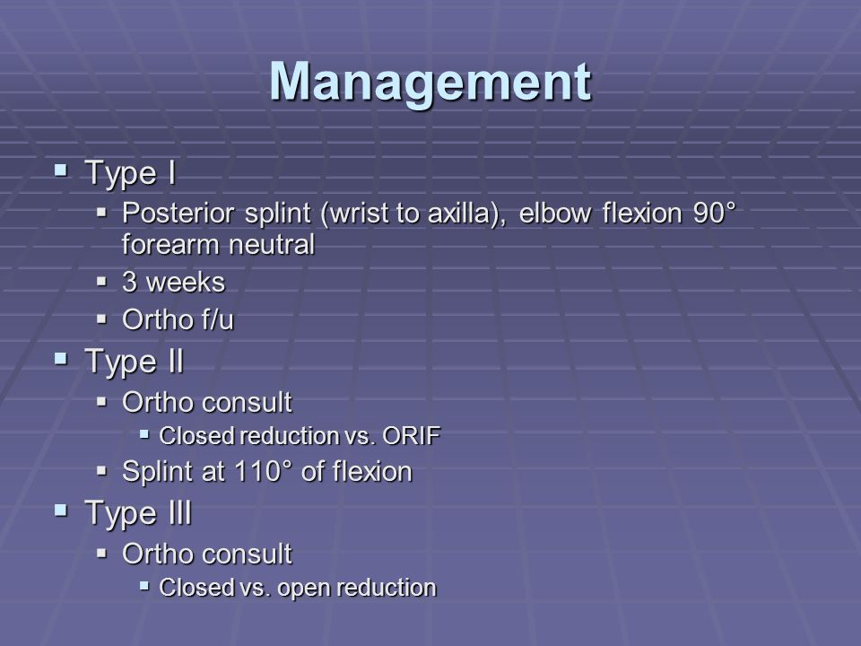 Management Type I Type II Type III