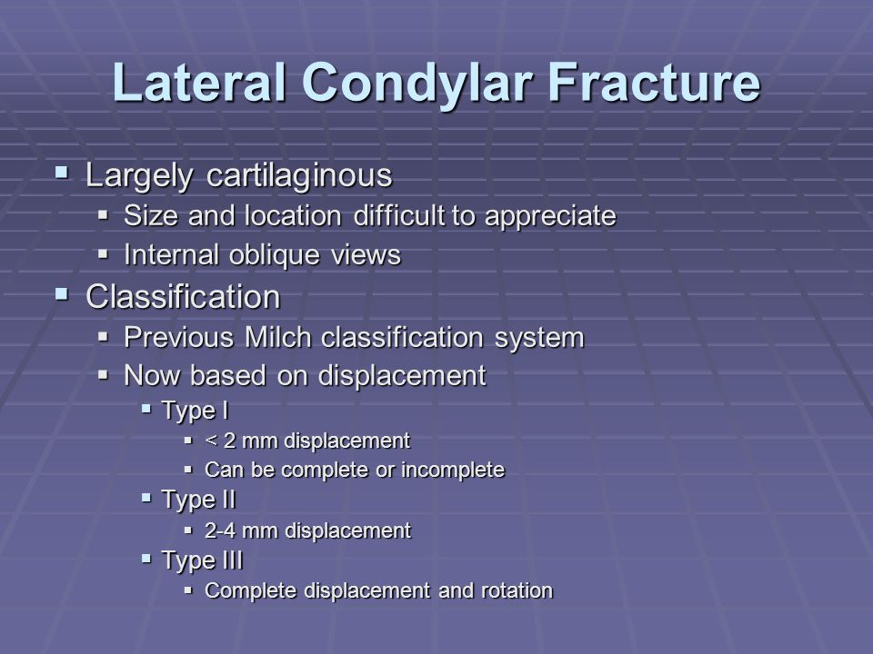 Lateral Condylar Fracture