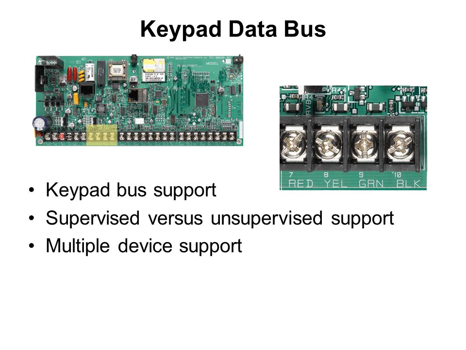 Keypad Data Bus Keypad bus support