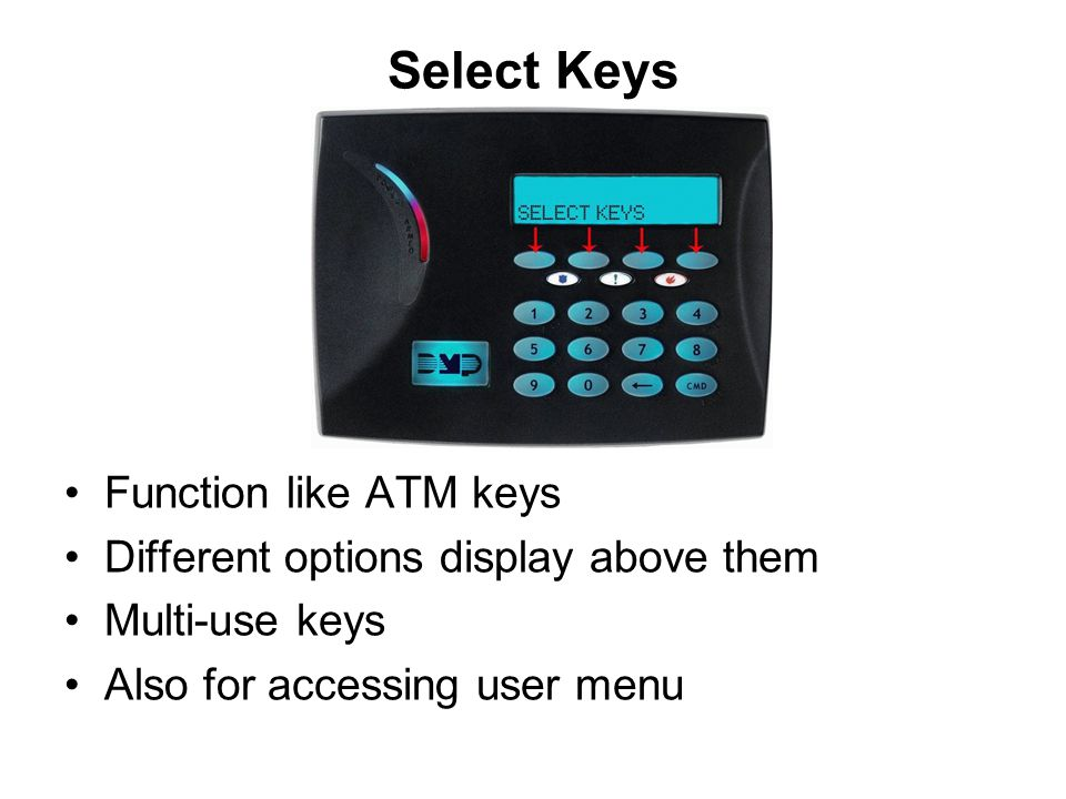 Select Keys Function like ATM keys