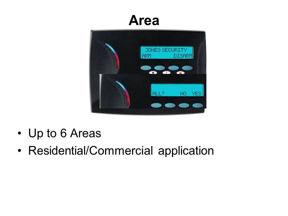 Area Up to 6 Areas Residential/Commercial application