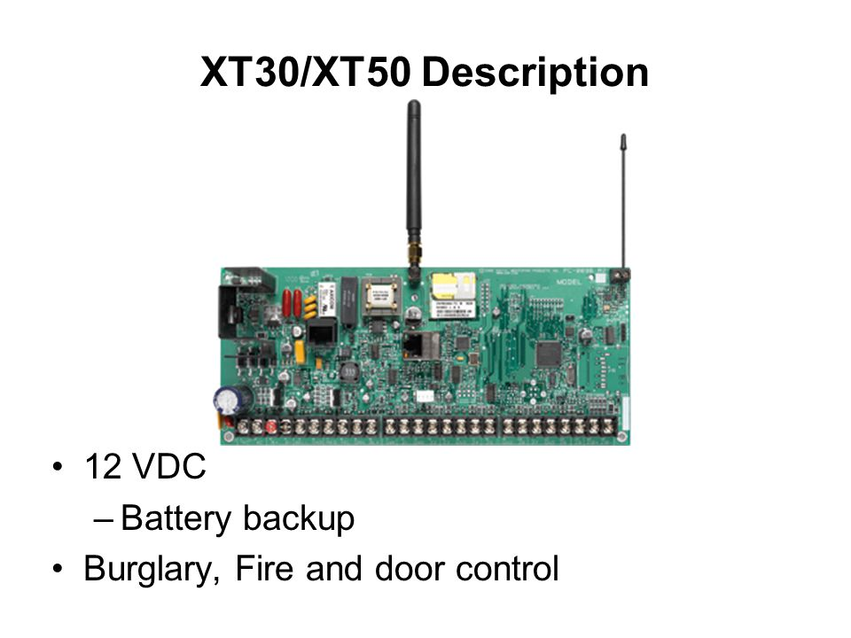 XT30%2FXT50+Description+12+VDC+Battery+backup xt30 xt50 basic training system overview ppt video online download dmp xt 50 wiring diagram at sewacar.co