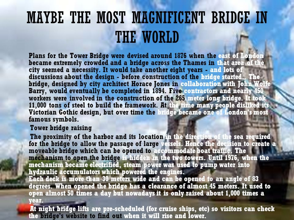 MAYBE THE MOST MAGNIFICENT BRIDGE IN THE WORLD
