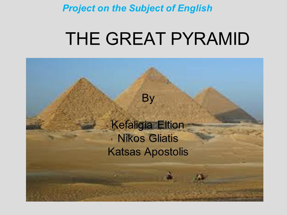 Project on the Subject of English
