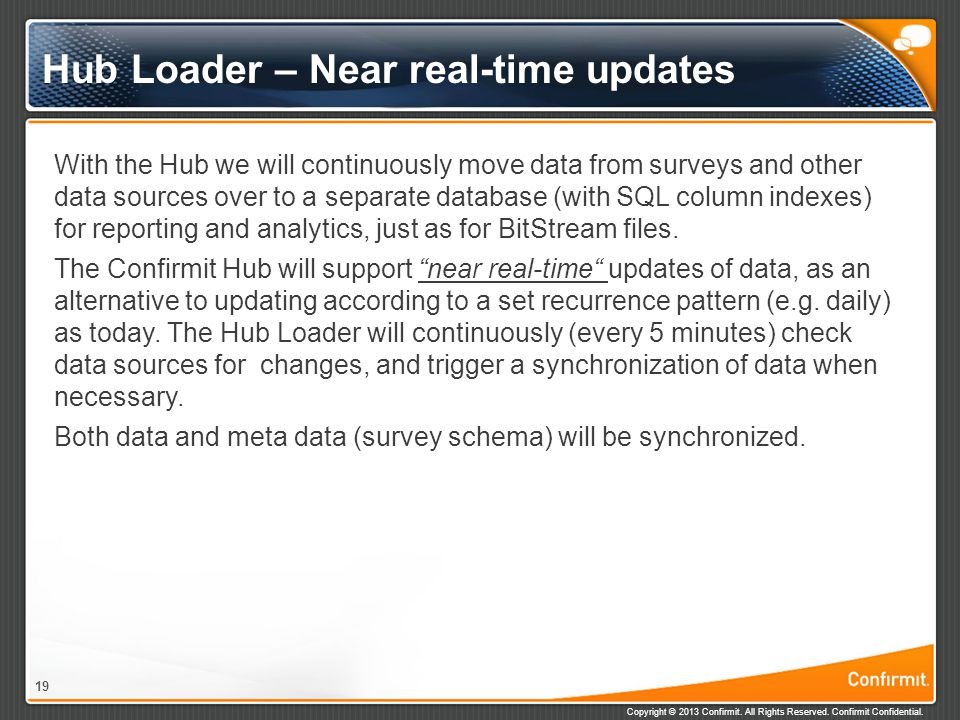 Hub Loader – Near real-time updates