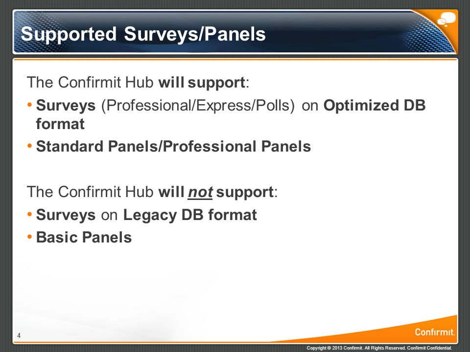 Supported Surveys/Panels