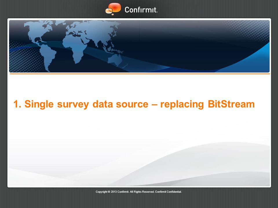 1. Single survey data source – replacing BitStream