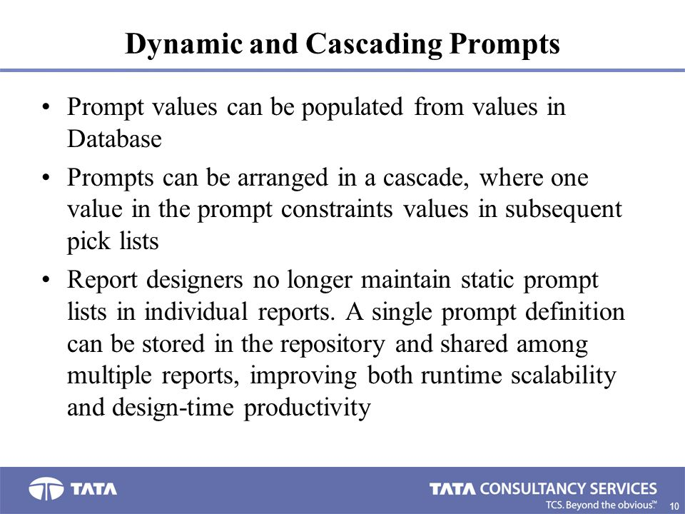 Dynamic and Cascading Prompts