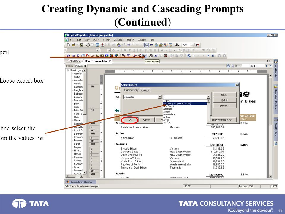 Creating Dynamic and Cascading Prompts (Continued)