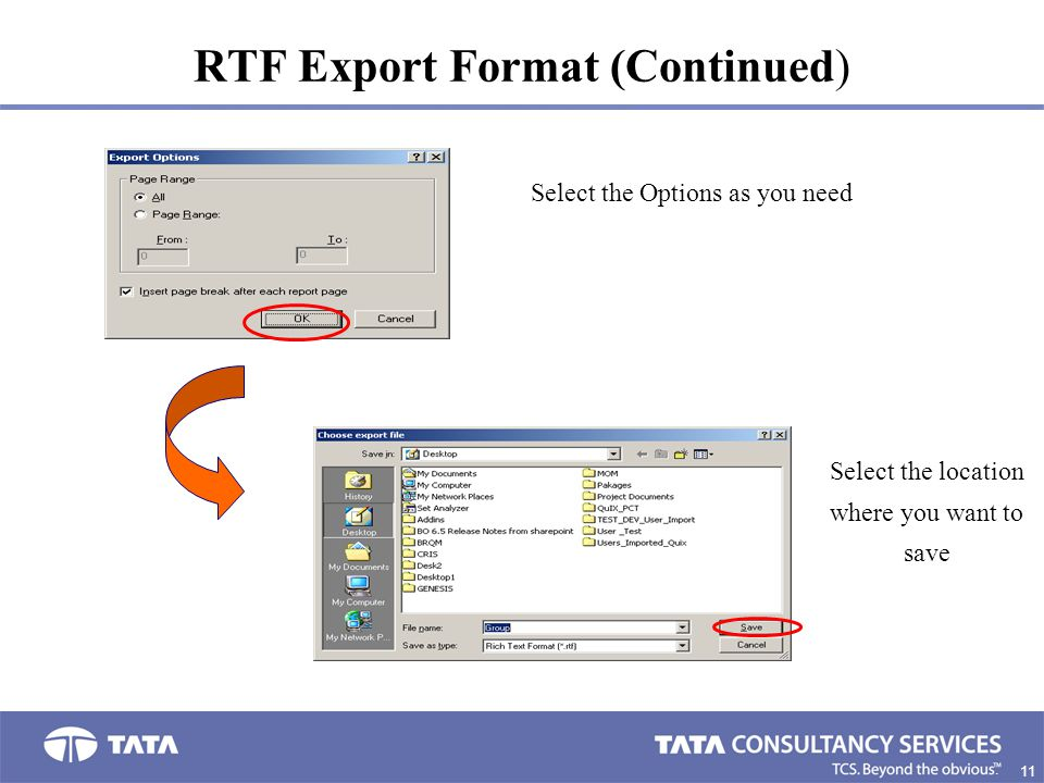 RTF Export Format (Continued)
