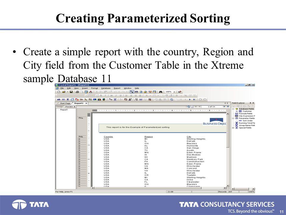 Creating Parameterized Sorting