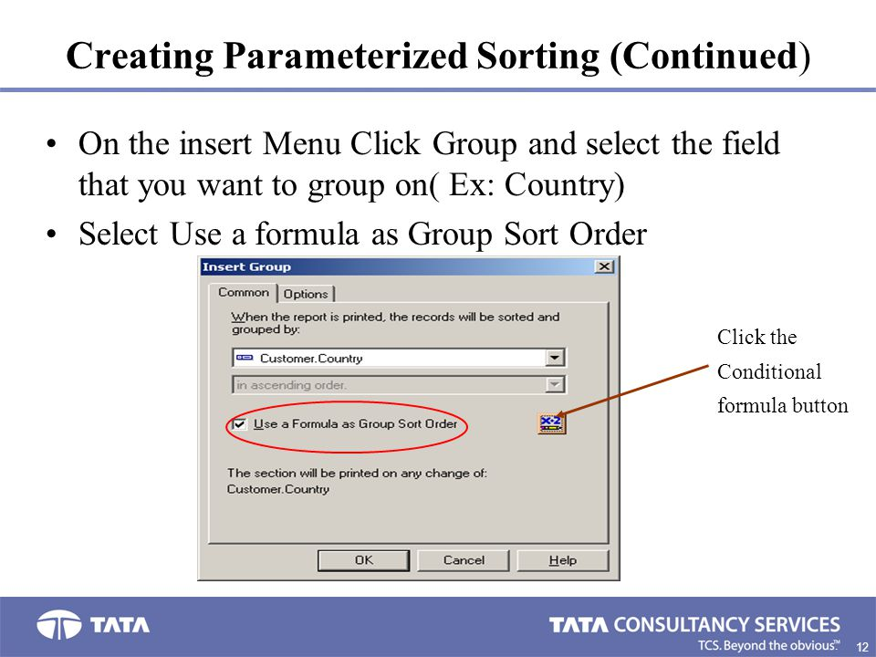 Creating Parameterized Sorting (Continued)