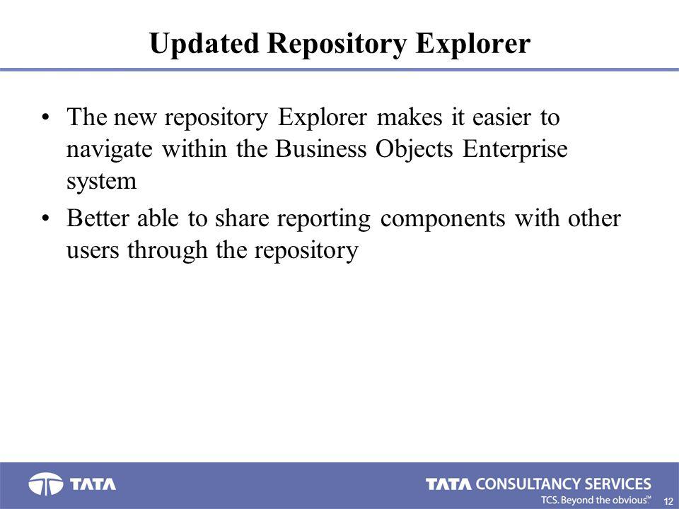 Updated Repository Explorer