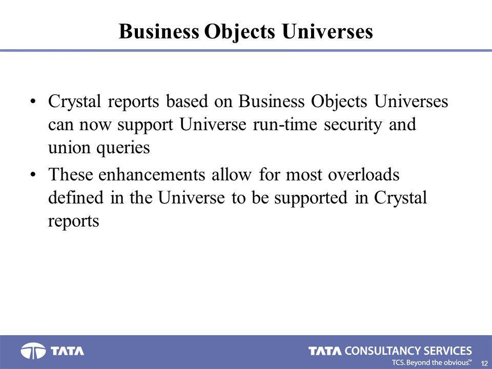 Business Objects Universes